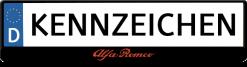 Alfa-romeo-rot-kennzeichenhalter