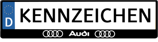 Audi-3D-kennzeichenhalter
