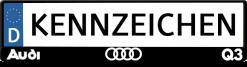 Audi-Q3-kennzeichenhalter