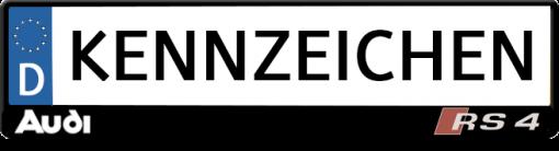 Audi-RS4-kennzeichenhalter