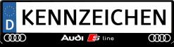 Audi-S-line-3D-kennzeichenhalter