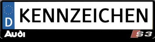 Audi-S3-kennzeichenhalter