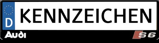 Audi-S6-kennzeichenhalter