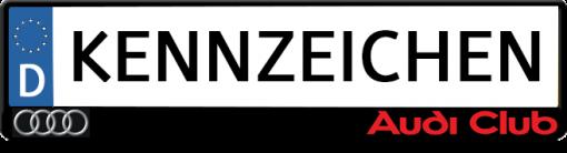 Audi-club-kennzeichenhalter
