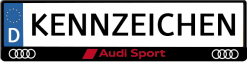Audi-sport-rood-kennzeichenhalter