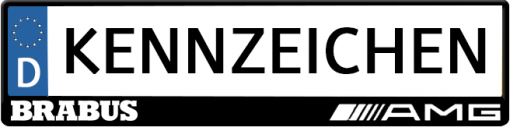Brabus-AMG-kennzeichenhalter