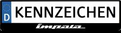 Chevrolet-impala-logo-kennzeichenhalter