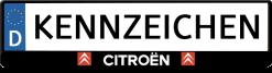 Citroen-kennzeichenhalter