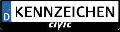 Civic-New-Logo-kennzeichenhalter