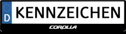 Corolla-logo-kennzeichenhalter