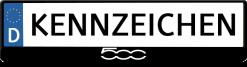 FIAT-500-logo-kennzeichenhalter