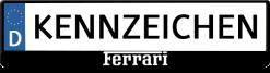 Ferrari-wit-logo-kennzeichenhalter