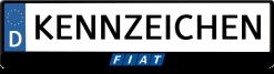 Fiat-mitte-blau-kennzeichenhalter