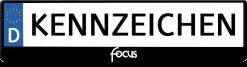 Focus-text-kennzeichenhalter