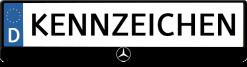 Mercedes-logo-kennzeichenhalter