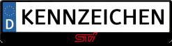 Subaru-STI-logo-kennzeichenhalter