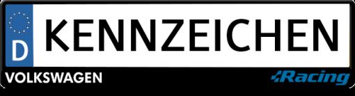 VW-racing-wise-blauer-kennzeichenhalter